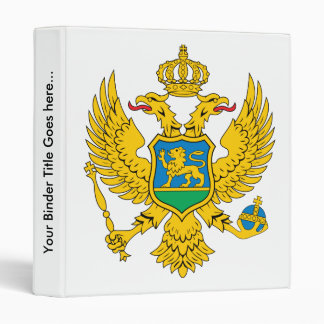 Montenegro Coat of Arms detail 3 Ring Binder