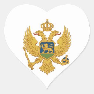 Montenegro Coat of Arms Heart Sticker