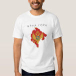 montenegro country flag map shape symbol T-Shirt