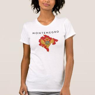 montenegro country flag map shape symbol tee shirt