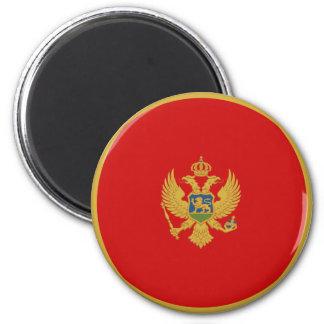 Montenegro Fisheye Flag Magnet