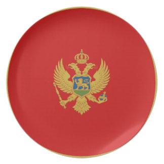Montenegro Fisheye Flag Plate