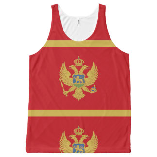 Montenegro flag All-Over-Print tank top