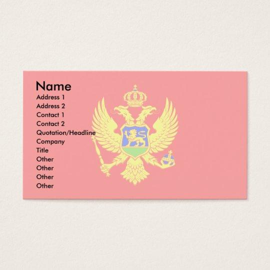 Montenegro Flag Business Card