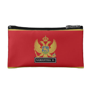 Montenegro flag cosmetic bag