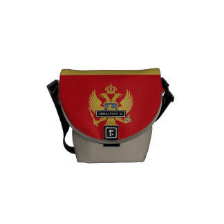 Montenegro flag courier bag