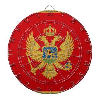 Montenegro Flag Dart Board