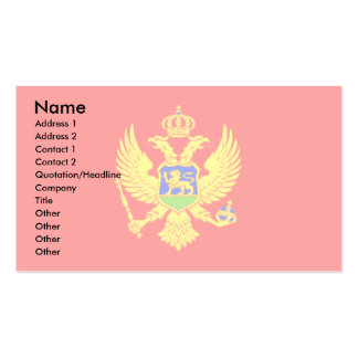 Montenegro Flag Double-Sided Standard Business Cards (Pack Of 100)