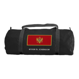 Montenegro flag gym bag