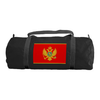 Montenegro Flag Gym Duffel Bag