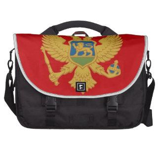Montenegro Flag Laptop Messenger Bag