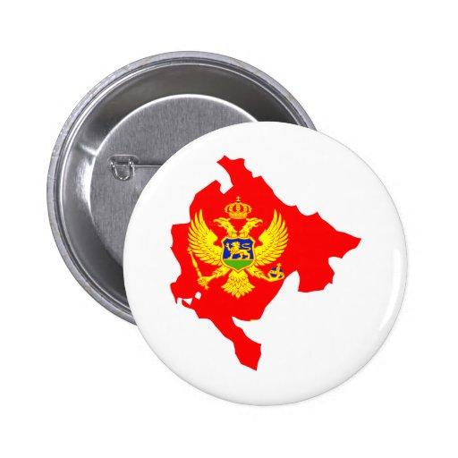 Montenegro Flag Map full size Pin