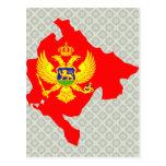 Montenegro Flag Map full size Postcard