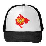 Montenegro Flag Map full size Trucker Hat