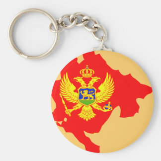 Montenegro flag map keychain