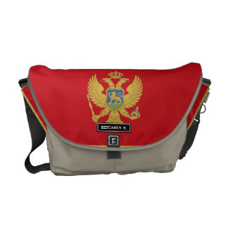 Montenegro flag messenger bag