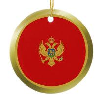 Montenegro Flag Ornament