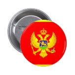 Montenegro Flag Pinback Buttons