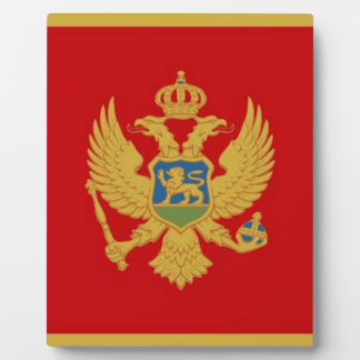 Montenegro Flag Photo Plaques