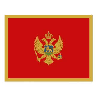 Montenegro Flag Postcard