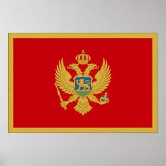 Montenegro Flag Posters