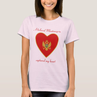 Montenegro Flag Sweetheart T-Shirt