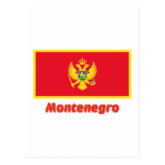 Montenegro Flag with Name Postcard