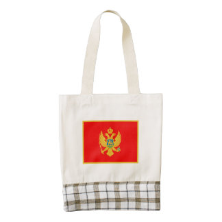 Montenegro Flag Zazzle HEART Tote Bag
