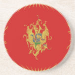 Montenegro Gnarly Flag Beverage Coasters