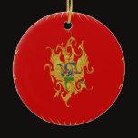 Montenegro Gnarly Flag Ceramic Ornament