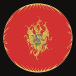 Montenegro Gnarly Flag Classic Round Sticker