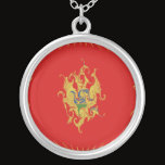 Montenegro Gnarly Flag Silver Plated Necklace