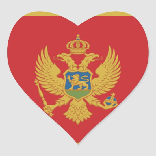 montenegro heart sticker