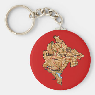 Montenegro Map Keychain