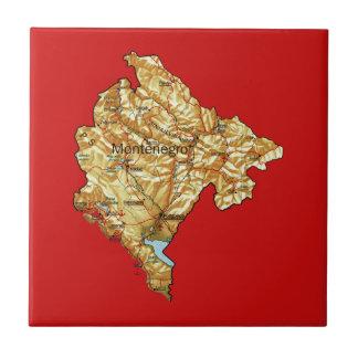 Montenegro Map Tile