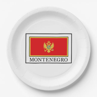 Montenegro Paper Plate