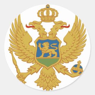Montenegro Pegatina Redonda