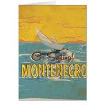 Montenegro vintage travel poster card