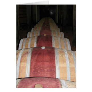 Montepulciano Vino Nobile barrel room Card