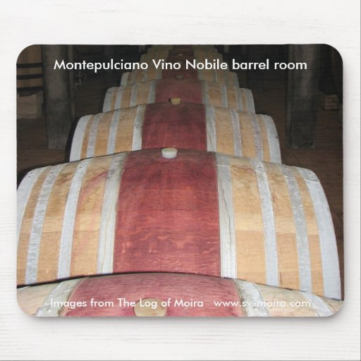Montepulciano Vino Nobile barrel room Mousepads