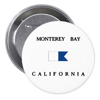 Monterey Bay California Alpha Dive Flag Pinback Button