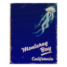 Monterey Bay California Jelly vintage travel Poster