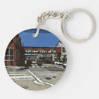 Monterey Bay Cannery Row Painting Keychain