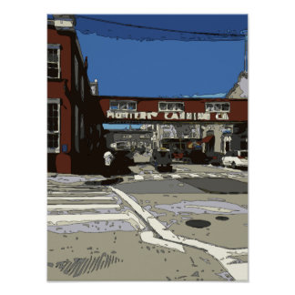 Monterey Bay Cannery Row Painting Print