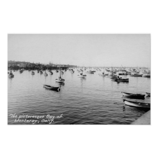 Monterey, CA - Bay with Hundreds of Wooden Boats Poster
