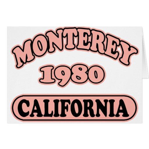 Monterey, Ca -- Camiseta Tarjeta De Felicitación