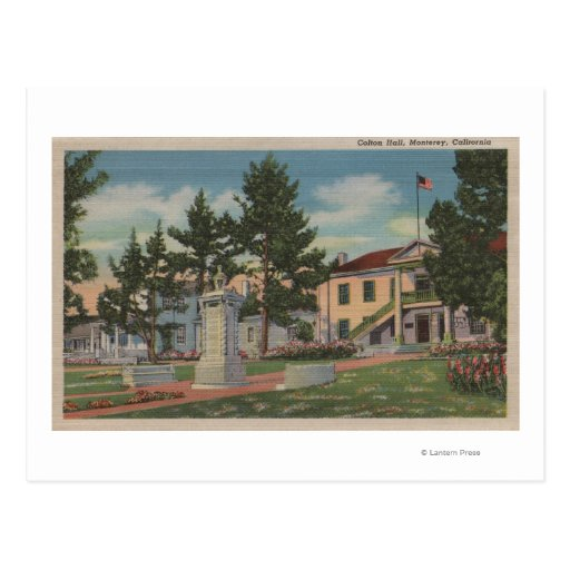Monterey, CA - Colton Hall View and Grounds Postcard