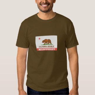 Monterey California bear flag tee shirt