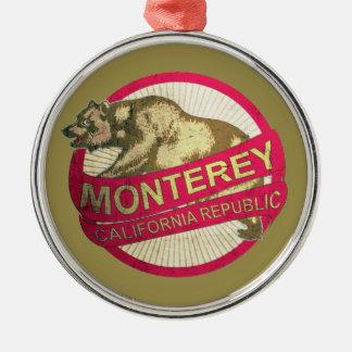 Monterey California bear holiday ornament