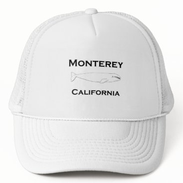 USA Themed Monterey California Gray Whale Trucker Hat